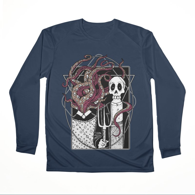 R'yleh Gothic - a tribute to Ameriacan Gothic Women's Performance Unisex Longsleeve T-Shirt by von Kowen's Shop
