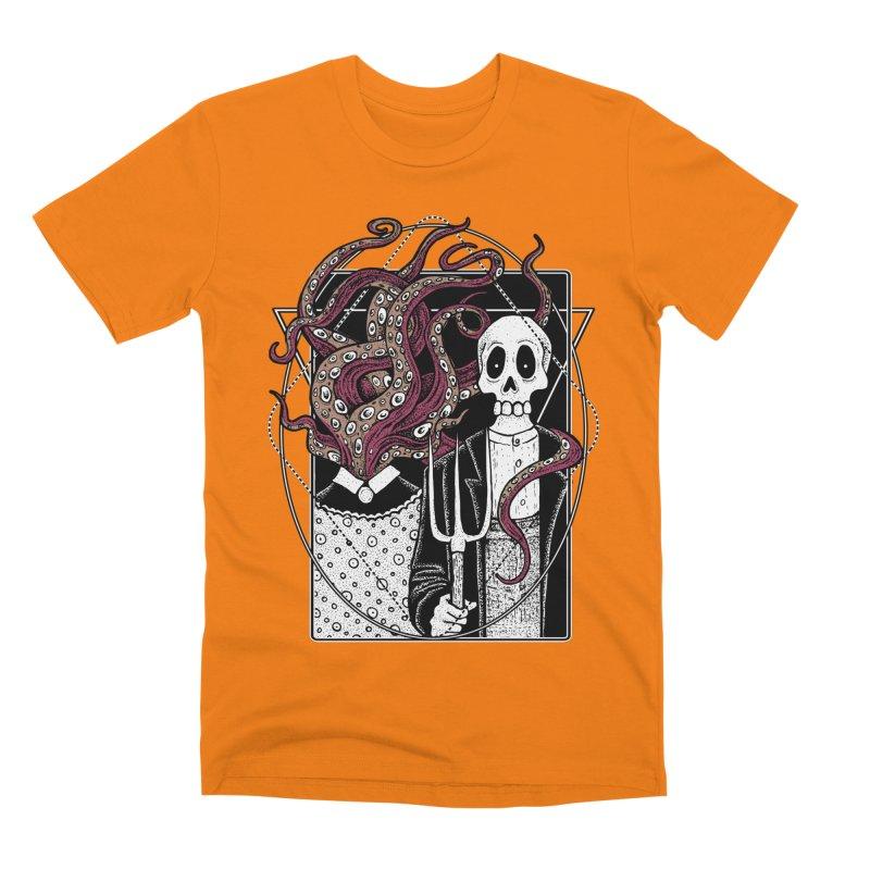 R'yleh Gothic - a tribute to Ameriacan Gothic Men's Premium T-Shirt by von Kowen's Shop