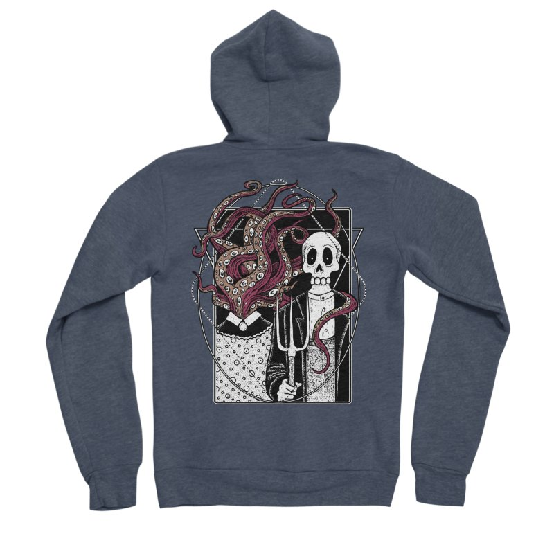 R'yleh Gothic - a tribute to Ameriacan Gothic Men's Sponge Fleece Zip-Up Hoody by von Kowen's Shop