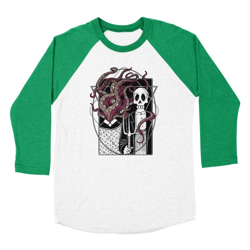 R'yleh Gothic - a tribute to Ameriacan Gothic Women's Baseball Triblend Longsleeve T-Shirt by von Kowen's Shop