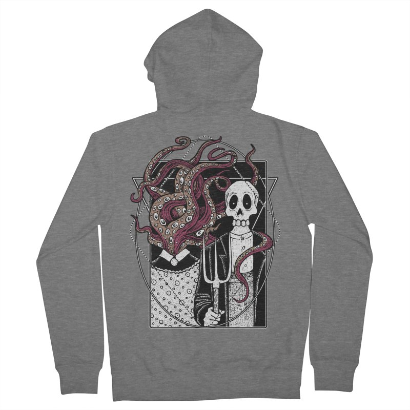 R'yleh Gothic - a tribute to Ameriacan Gothic Women's French Terry Zip-Up Hoody by von Kowen's Shop