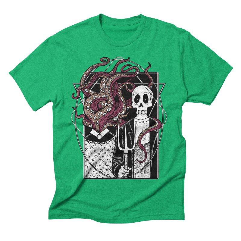 R'yleh Gothic - a tribute to Ameriacan Gothic Men's Triblend T-Shirt by von Kowen's Shop