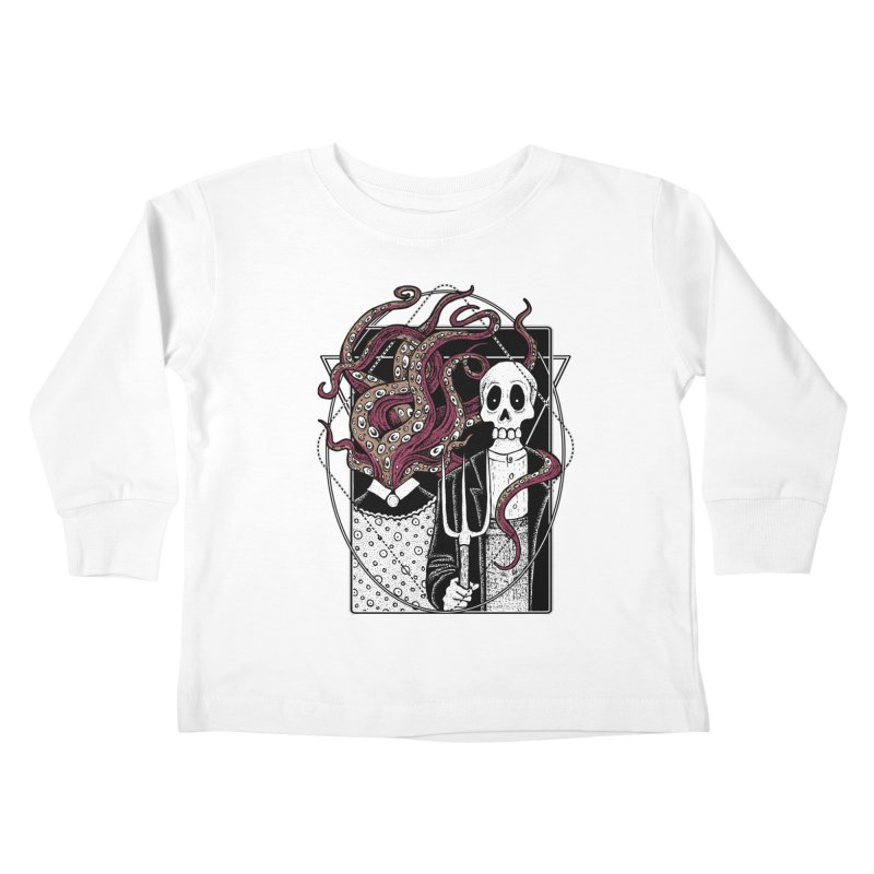 R'yleh Gothic - a tribute to Ameriacan Gothic Kids Toddler Longsleeve T-Shirt by von Kowen's Shop