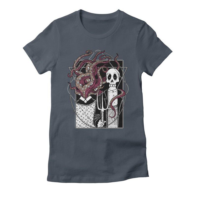R'yleh Gothic - a tribute to Ameriacan Gothic Women's T-Shirt by von Kowen's Shop