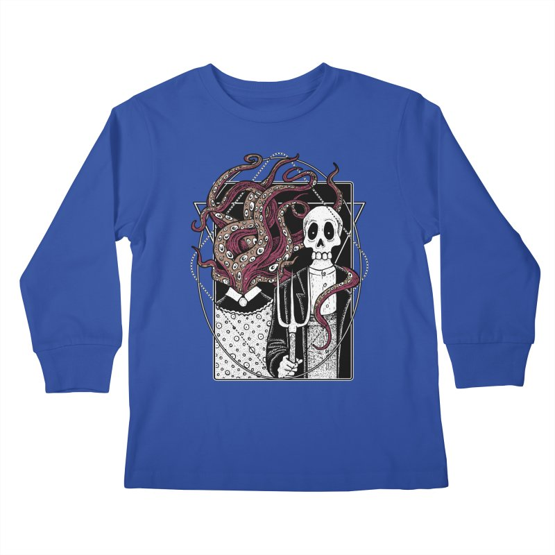 R'yleh Gothic - a tribute to Ameriacan Gothic Kids Longsleeve T-Shirt by von Kowen's Shop