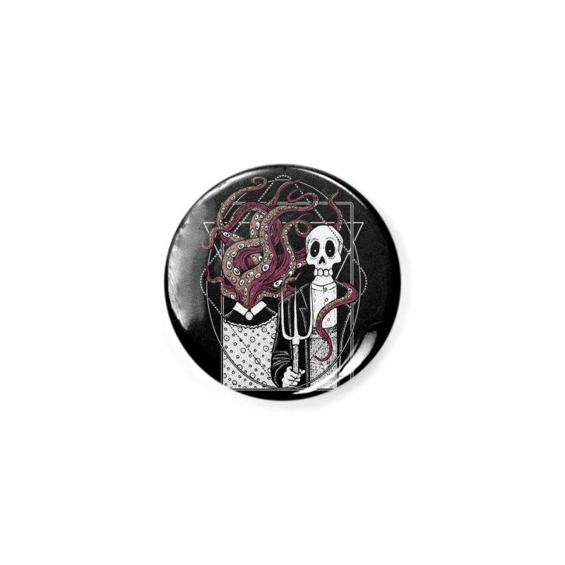 R'yleh Gothic - a tribute to Ameriacan Gothic Accessories Button by von Kowen's Shop