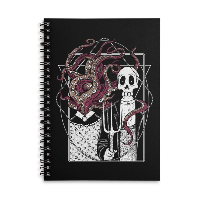 R'yleh Gothic - a tribute to Ameriacan Gothic Accessories Lined Spiral Notebook by von Kowen's Shop