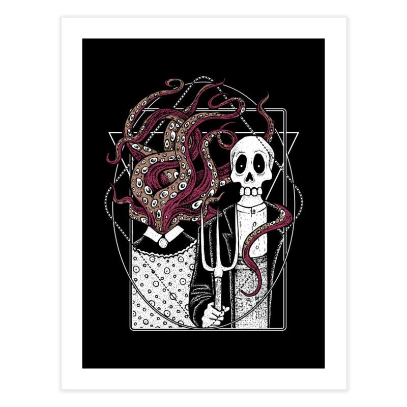 R'yleh Gothic - a tribute to Ameriacan Gothic Home Fine Art Print by von Kowen's Shop