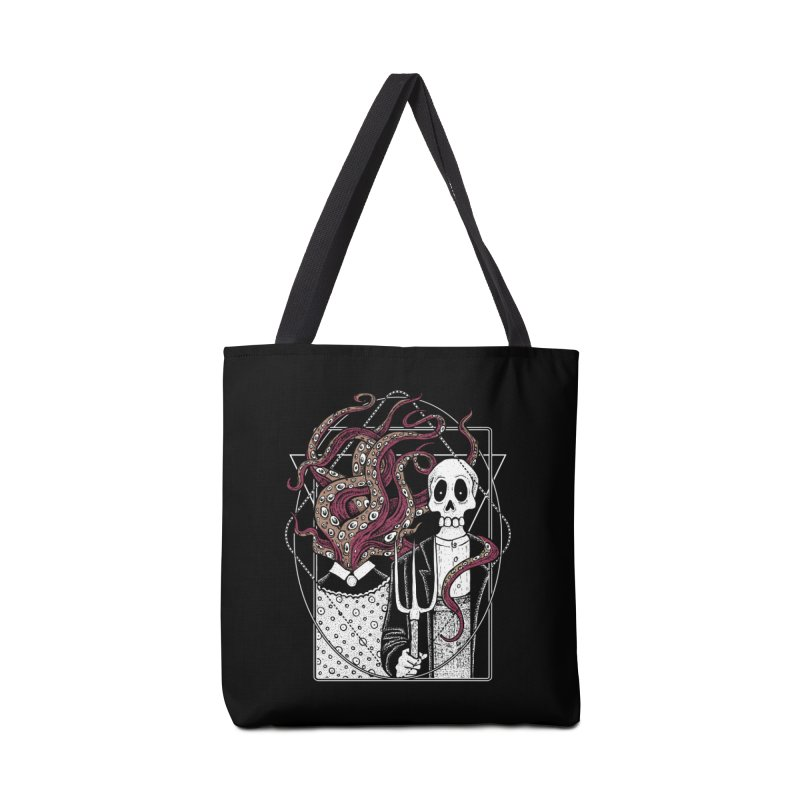 R'yleh Gothic - a tribute to Ameriacan Gothic Accessories Tote Bag Bag by von Kowen's Shop