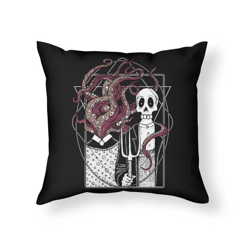R'yleh Gothic - a tribute to Ameriacan Gothic Home Throw Pillow by von Kowen's Shop