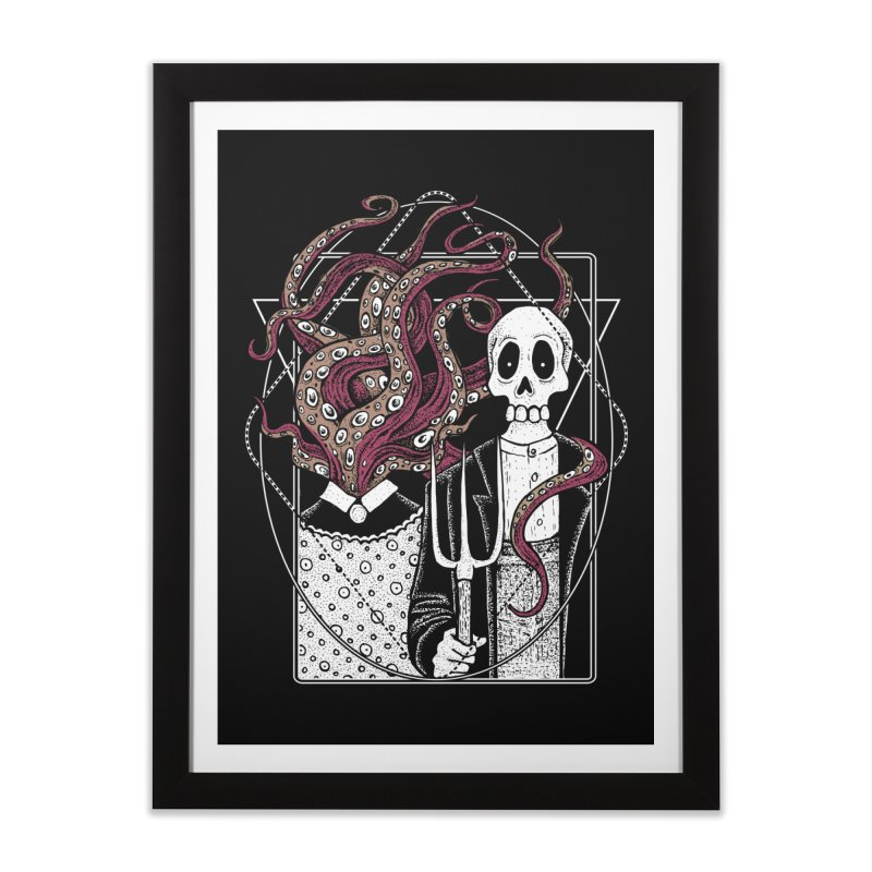 R'yleh Gothic - a tribute to Ameriacan Gothic Home Framed Fine Art Print by von Kowen's Shop
