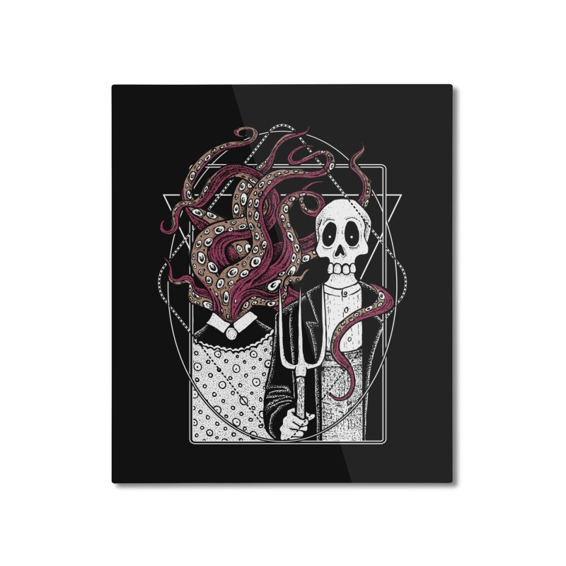 R'yleh Gothic - a tribute to Ameriacan Gothic Home Mounted Aluminum Print by von Kowen's Shop