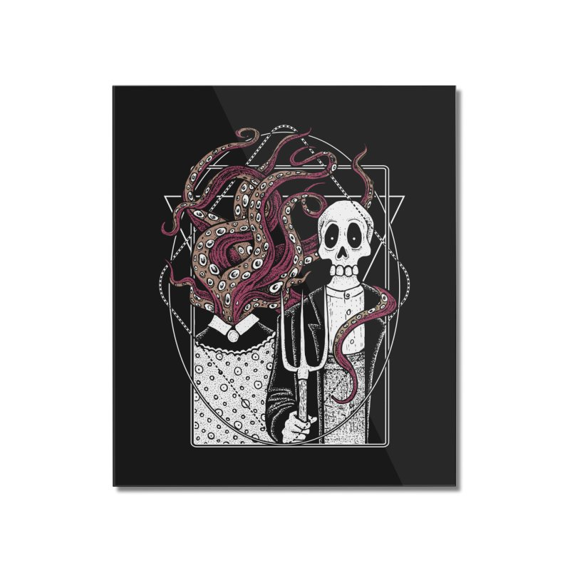 R'yleh Gothic - a tribute to Ameriacan Gothic Home Mounted Acrylic Print by von Kowen's Shop
