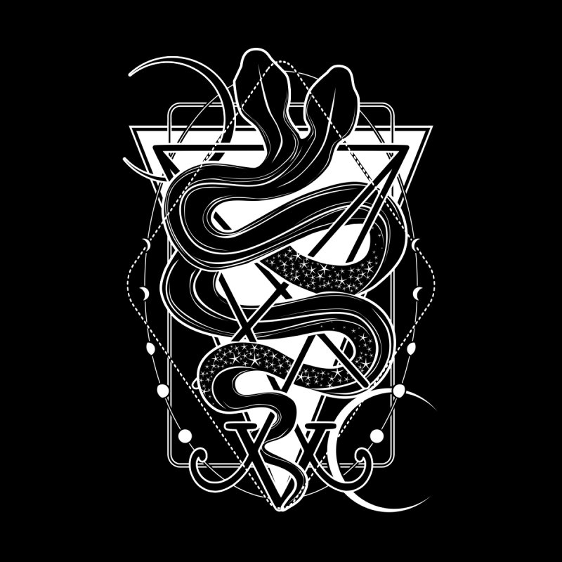 Two-headed snake and the Sigil of Lucifer Men's Longsleeve T-Shirt by von Kowen's Shop