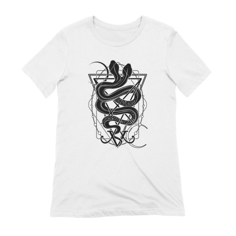 Two-headed snake and the Sigil of Lucifer Women's Extra Soft T-Shirt by von Kowen's Shop