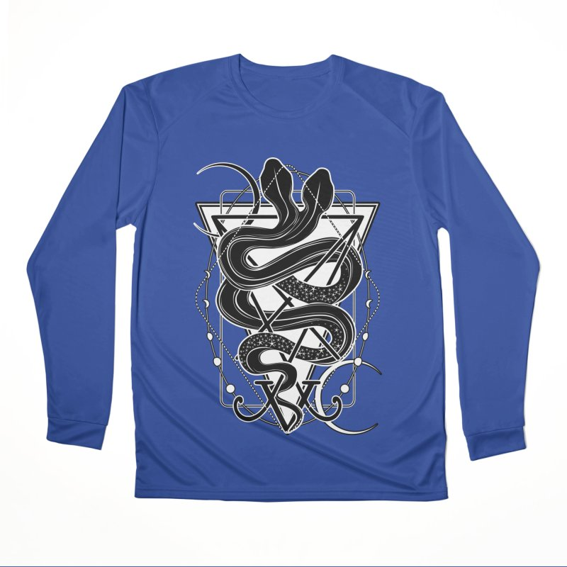 Two-headed snake and the Sigil of Lucifer Women's Performance Unisex Longsleeve T-Shirt by von Kowen's Shop