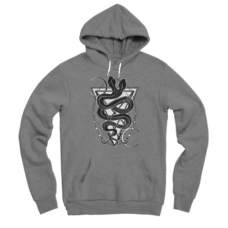 Two-headed snake and the Sigil of Lucifer Men's Sponge Fleece Pullover Hoody by von Kowen's Shop
