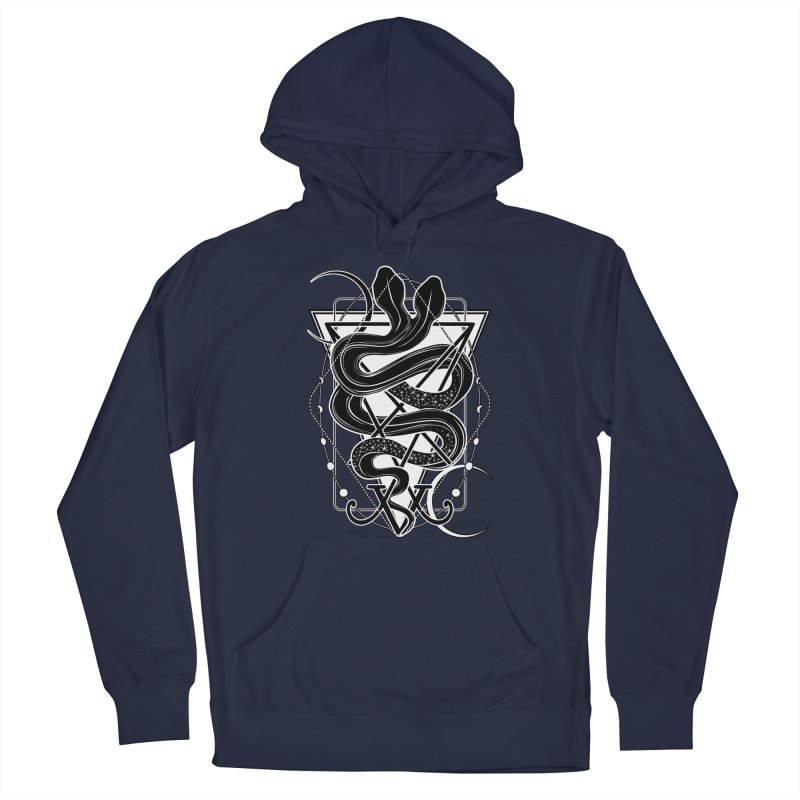 Two-headed snake and the Sigil of Lucifer Men's French Terry Pullover Hoody by von Kowen's Shop