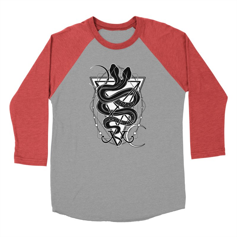 Two-headed snake and the Sigil of Lucifer Men's Baseball Triblend Longsleeve T-Shirt by von Kowen's Shop