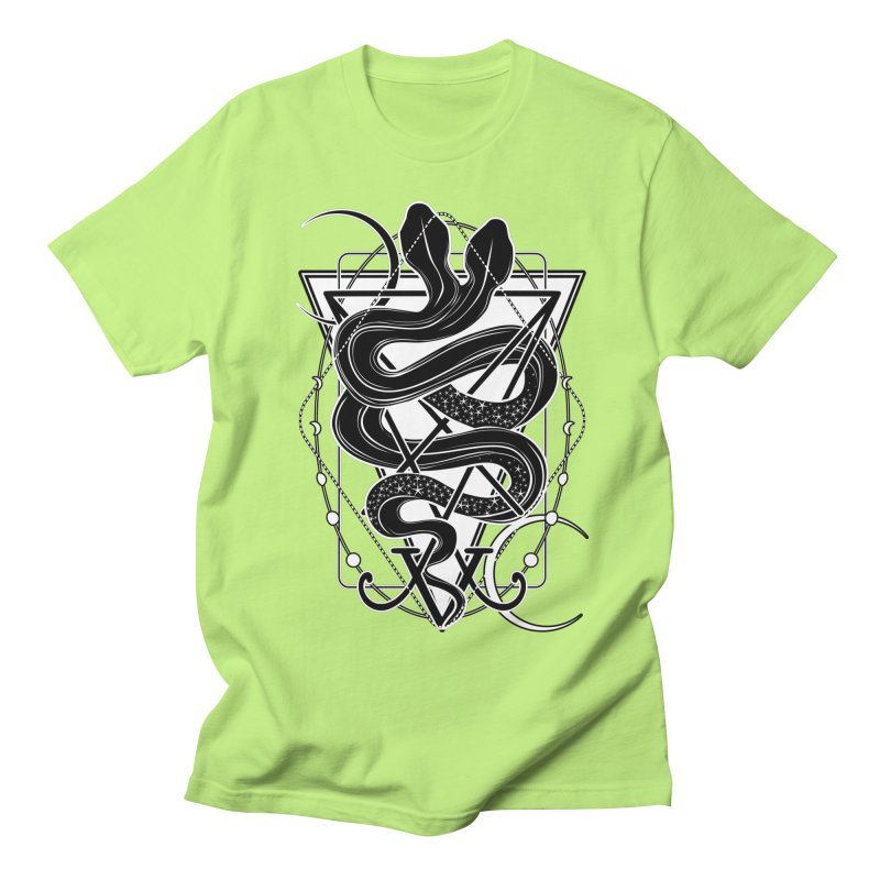 Two-headed snake and the Sigil of Lucifer Women's Regular Unisex T-Shirt by von Kowen's Shop