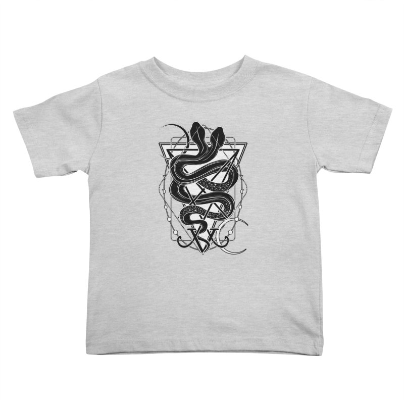 Two-headed snake and the Sigil of Lucifer Kids Toddler T-Shirt by von Kowen's Shop