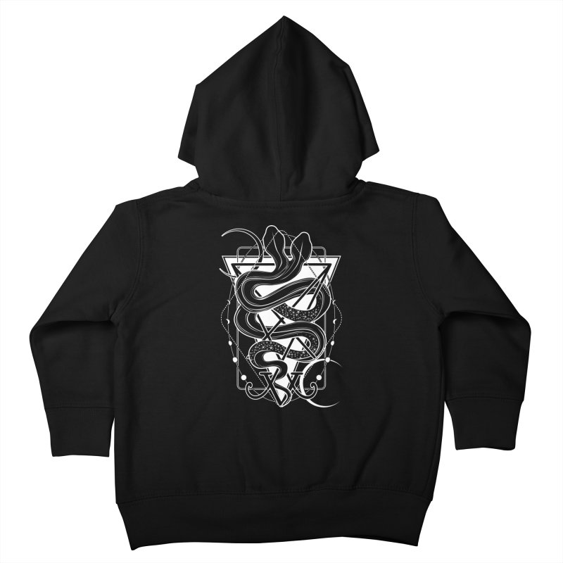 Two-headed snake and the Sigil of Lucifer Kids Toddler Zip-Up Hoody by von Kowen's Shop