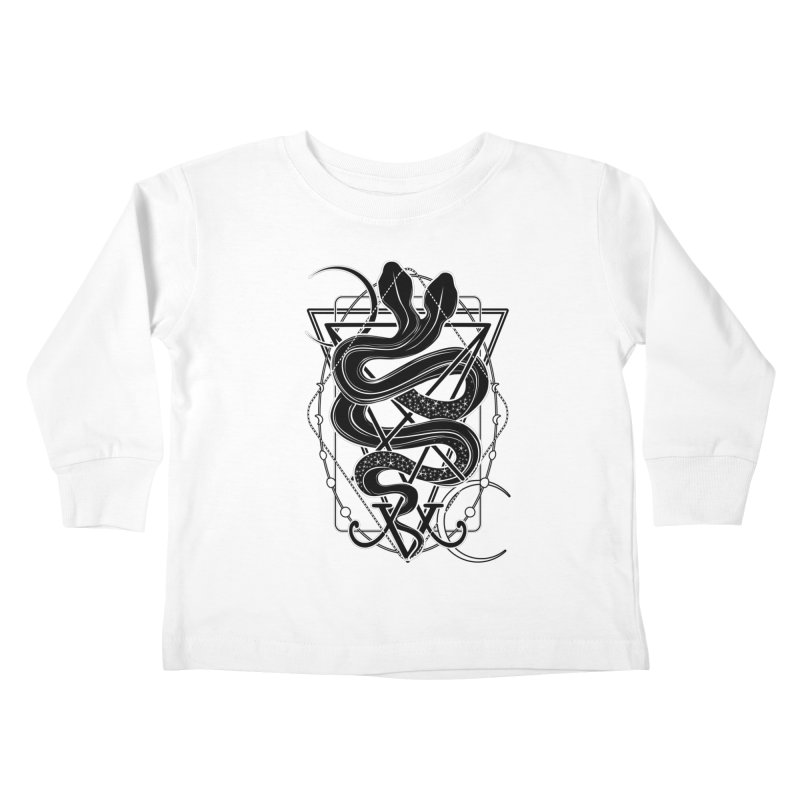 Two-headed snake and the Sigil of Lucifer Kids Toddler Longsleeve T-Shirt by von Kowen's Shop