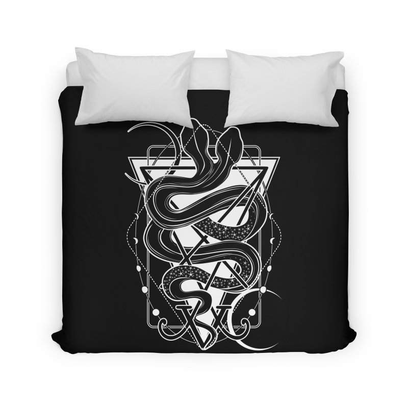 Two-headed snake and the Sigil of Lucifer Home Duvet by von Kowen's Shop