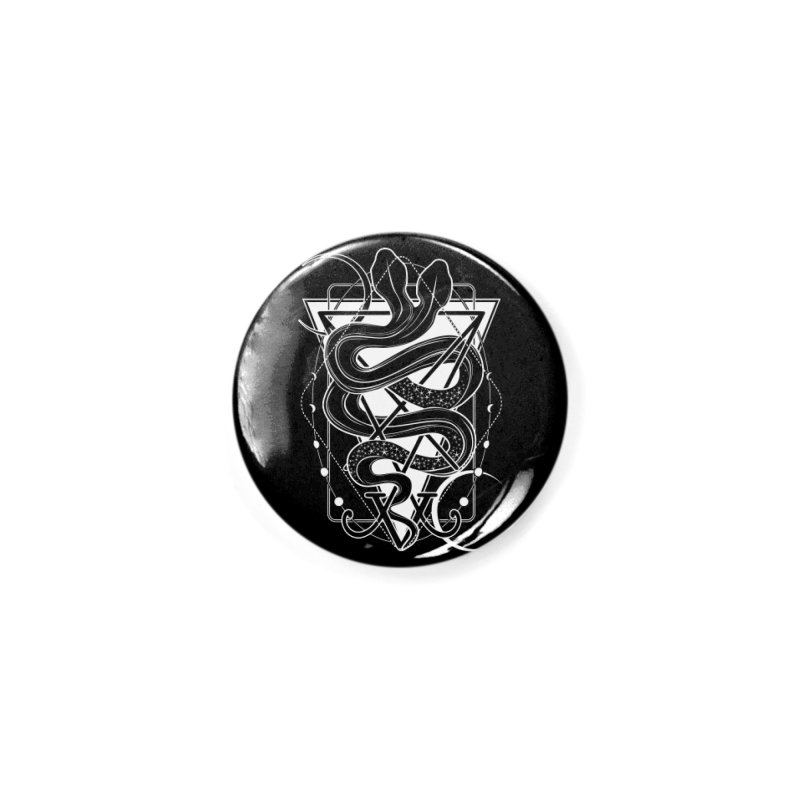 Two-headed snake and the Sigil of Lucifer Accessories Button by von Kowen's Shop