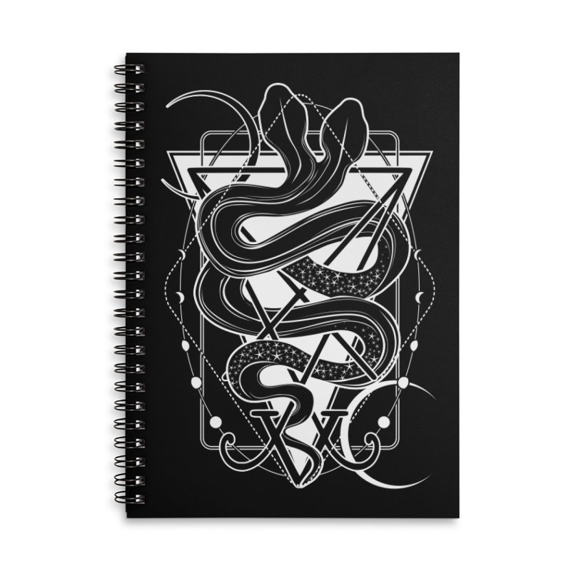 Two-headed snake and the Sigil of Lucifer Accessories Lined Spiral Notebook by von Kowen's Shop
