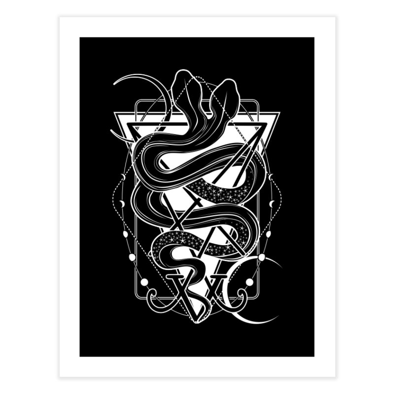 Two-headed snake and the Sigil of Lucifer Home Fine Art Print by von Kowen's Shop