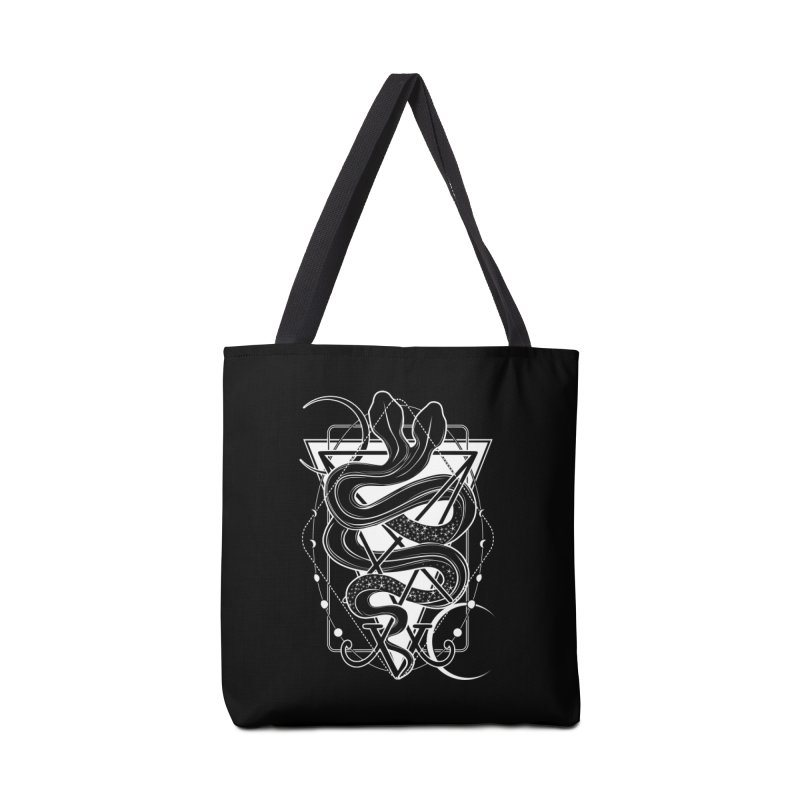 Two-headed snake and the Sigil of Lucifer Accessories Tote Bag Bag by von Kowen's Shop