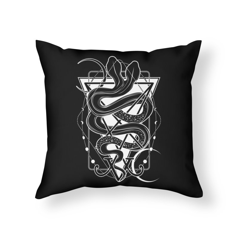 Two-headed snake and the Sigil of Lucifer Home Throw Pillow by von Kowen's Shop