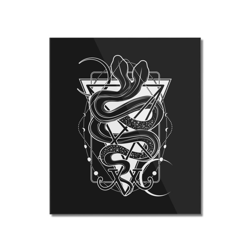 Two-headed snake and the Sigil of Lucifer Home Mounted Acrylic Print by von Kowen's Shop