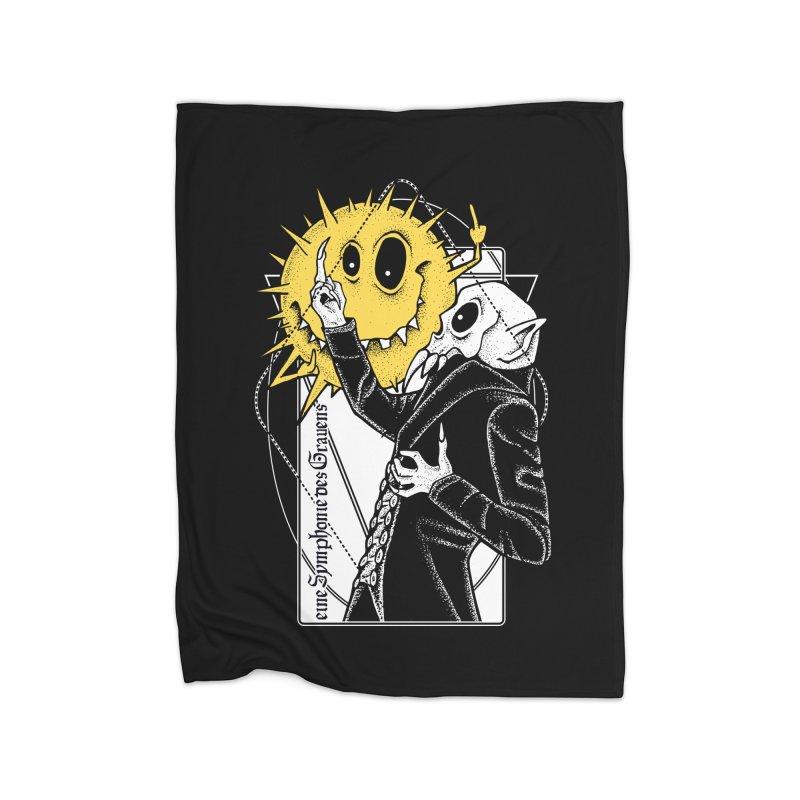 The Vampire and the Sun Home Fleece Blanket Blanket by von Kowen's Shop