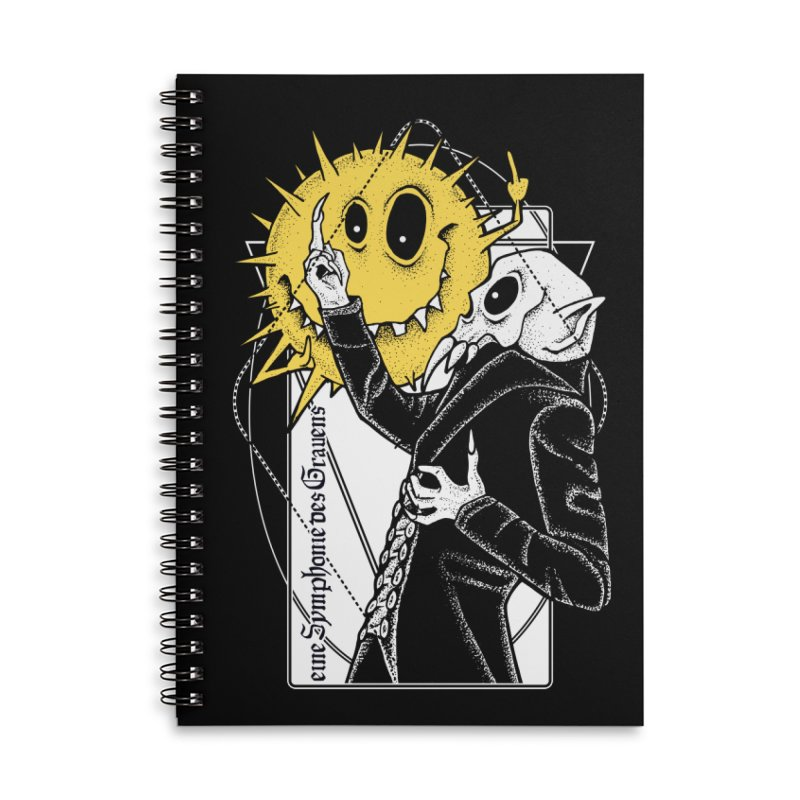 The Vampire and the Sun Accessories Lined Spiral Notebook by von Kowen's Shop