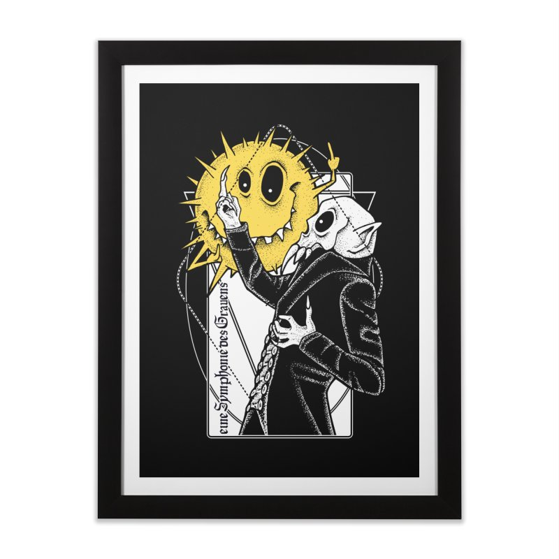 The Vampire and the Sun Home Framed Fine Art Print by von Kowen's Shop