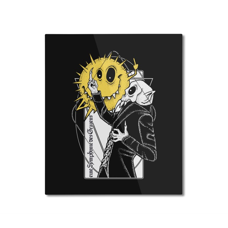 The Vampire and the Sun Home Mounted Aluminum Print by von Kowen's Shop