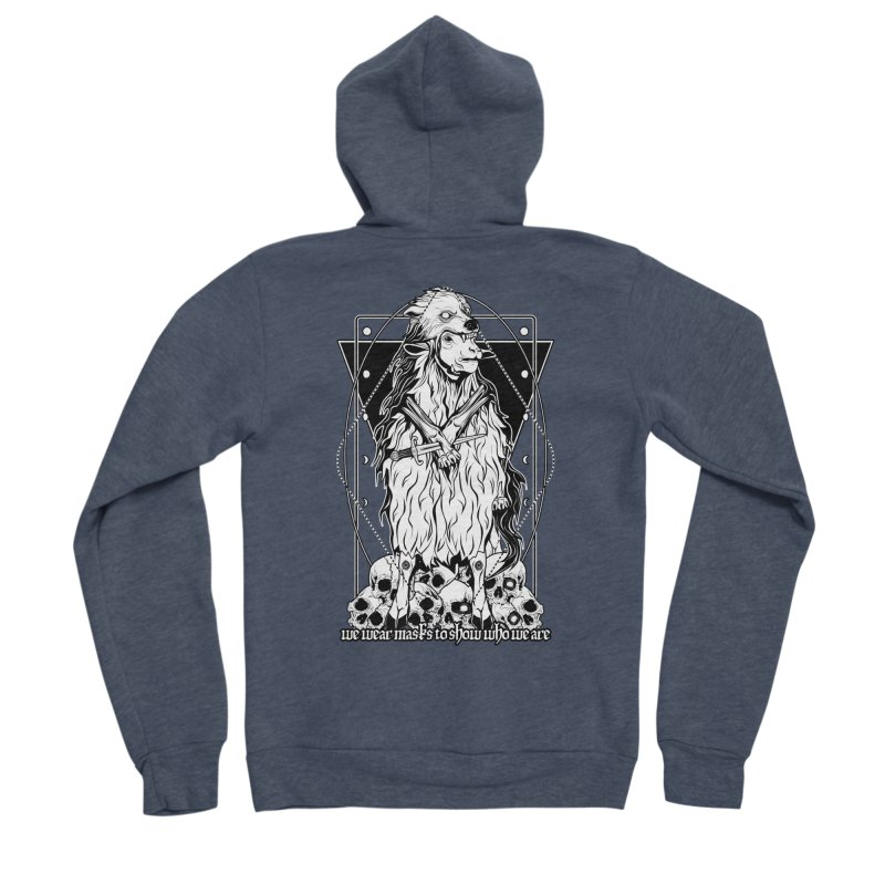 Sheep in wolf's clothing Men's Sponge Fleece Zip-Up Hoody by von Kowen's Shop