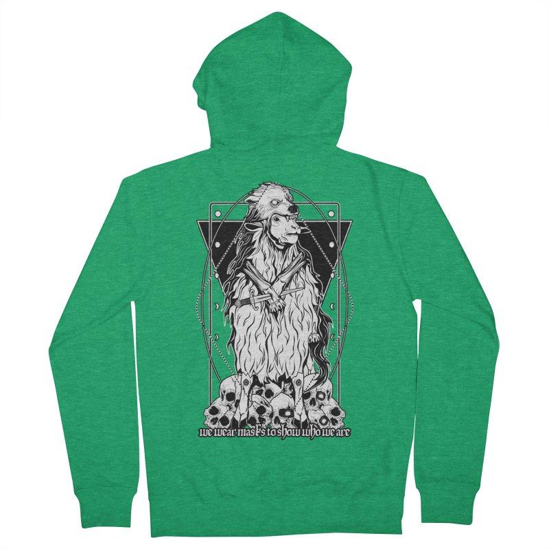 Sheep in wolf's clothing Men's Zip-Up Hoody by von Kowen's Shop