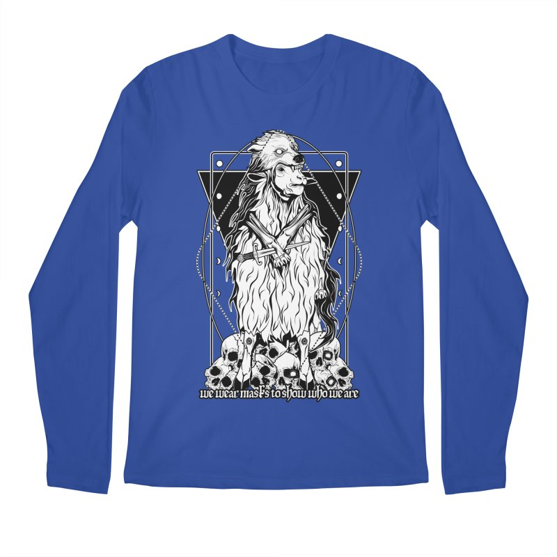 Sheep in wolf's clothing Men's Longsleeve T-Shirt by von Kowen's Shop