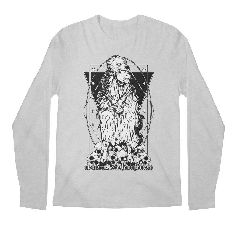 Sheep in wolf's clothing Men's Regular Longsleeve T-Shirt by von Kowen's Shop