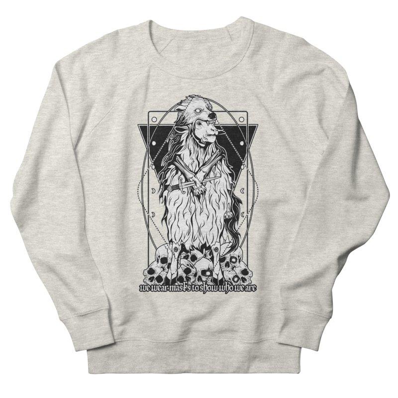 Sheep in wolf's clothing Men's French Terry Sweatshirt by von Kowen's Shop