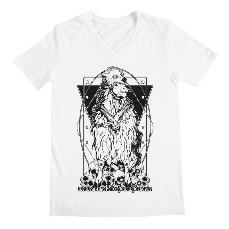 Sheep in wolf's clothing Men's V-Neck by von Kowen's Shop