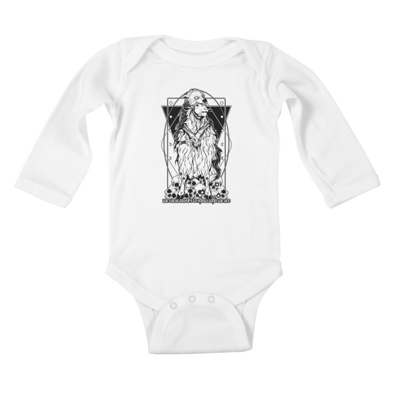 Sheep in wolf's clothing Kids Baby Longsleeve Bodysuit by von Kowen's Shop