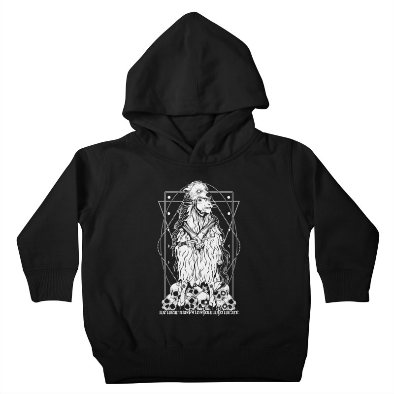 Sheep in wolf's clothing Kids Toddler Pullover Hoody by von Kowen's Shop