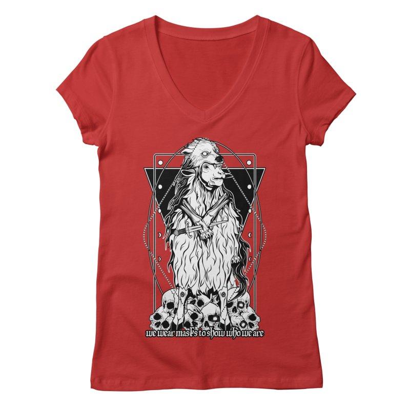 Sheep in wolf's clothing Women's Regular V-Neck by von Kowen's Shop