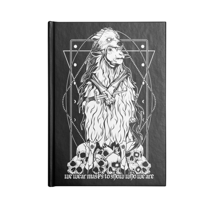Sheep in wolf's clothing Accessories Lined Journal Notebook by von Kowen's Shop