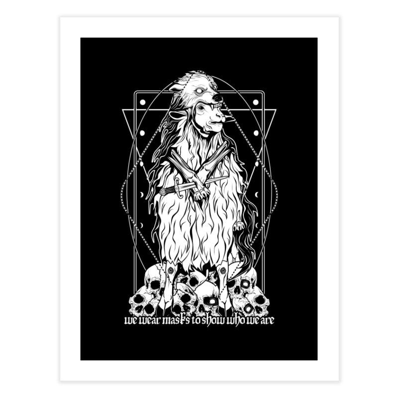 Sheep in wolf's clothing Home Fine Art Print by von Kowen's Shop