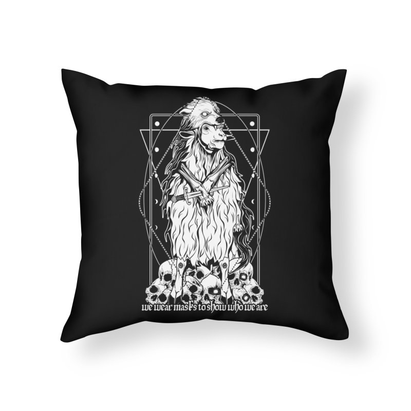 Sheep in wolf's clothing Home Throw Pillow by von Kowen's Shop